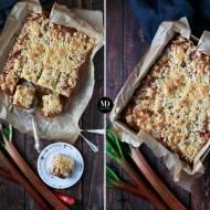 Proste ciasto z rabarbarem i kruszonką – bez miksera