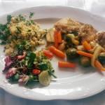 Drób z warzywami i kaszą jaglaną