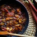 Karmelizowany rabarbar