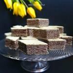 Wafle z polewą czekoladową
