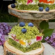 "ciasto ""leśne runo"" z galaretkami"