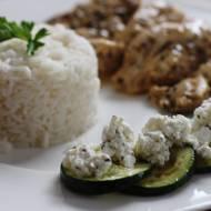 Kurczak z grillowaną cukinią i serem feta