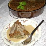 placek ziemniaczano-pieczarkowy z sosem grzybowym...