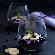 Wegański budyń jagodowy