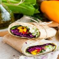 Wrap z warzywami i musztardą francuską