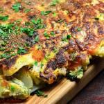 Tortilla z młodych warzyw
