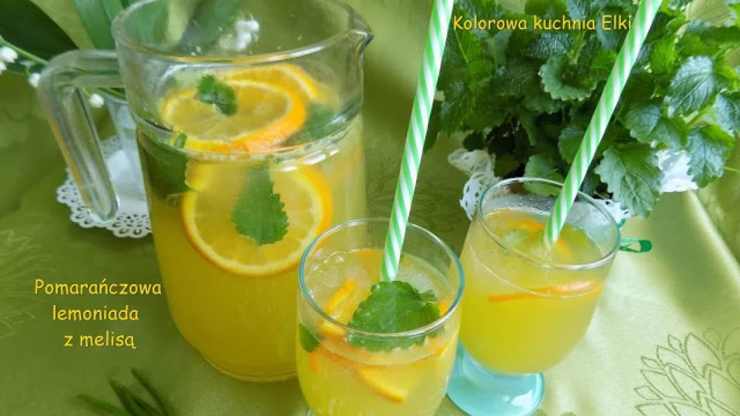 Pomarańczowa lemoniada z melisą