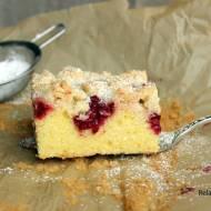 Ciasto na niedzielę szybkie i łatwe #19 Najlepsze ucierane z malinami i kruszonką