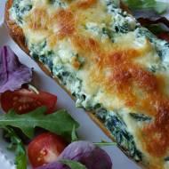 Dynia piżmowa zapiekana z serem ricottą i mozzarellą