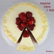 Piankowy torcik z truskawkami (na zimno)