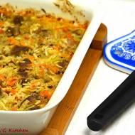 Zapiekanka ryżowa z mięsem