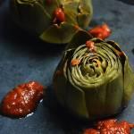 Karczochy w pomidorowo- ziołowym bulionie