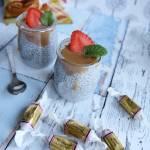 Pudding chia z mlekiem kokosowym i karmelem Werther's Original Soft Caramels