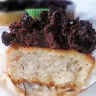BANANOWE MUFFINKI z kremem czekoladowym