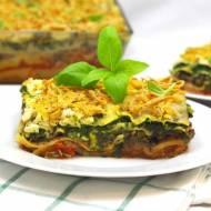Wegańska, trójwarstwowa lasagne