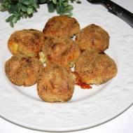 Pieczone kulki ziemniaczane z serem