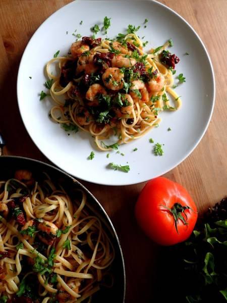 Przepis Na Makaron Z Krewetkami I Suszonymi Pomidorami Ultra