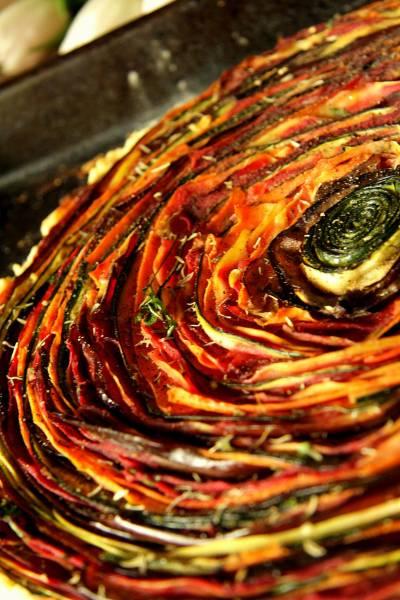 Spiralna tarta z warzywami