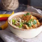 Tajski makaron z kurczakiem i masłem orzechowym / Thai peanut butter pasta with chicken
