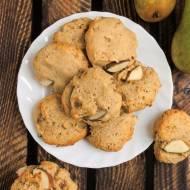 Ciasteczka orzechowe z gruszkami (wegańskie)