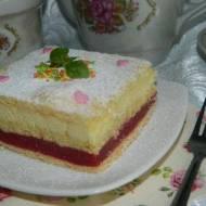 Ciasto słodka pokusa z serem i rabarbarem