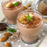 Koktajl bananowo-czekoladowy z siemieniem lnianym