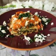Lasagne ze szpinakiem i musem marchewkowym