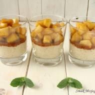 Waniliowy ryż na mleku, z karmelizowanymi jabłkami i cynamonem
