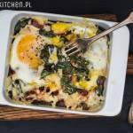 Zapiekana botwina z jajkami