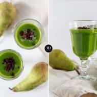 Zielony koktajl z gruszką