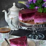 Jogurtowiec jagodowy na owsianym spodzie (FIT, bez pieczenia)