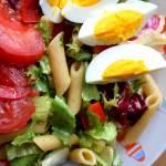 Sałatka z makaronem i jajkiem - fit, lekko i zdrowo :)
