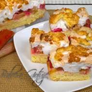 Ciasto z Rabarbarem pod Bezą