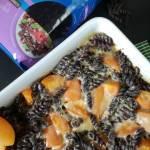 Zapiekany makaron z kremem waniliowym i morelą