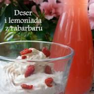Deser i lemoniada z rabarbaru