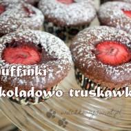 Muffinki czekoladowo-truskawkowe