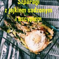 Szpragi z jajkiem sadzonym i oscypkiem