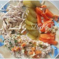 Filet z kurczaka z kaszą orkiszową i warzywami