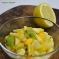 Owocowy szałołt- wynołkwianie piyrsze (Sałatka owocowa- wersja I)