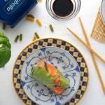 Spring rolls z warzywami i makaronem