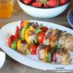 szaszłyki mięsno warzywne