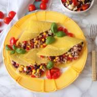Wytrawne naleśniki z tuńczykiem i czerwoną fasolą (Crepes salati al tonno e fagioli rossi)