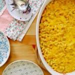 Zapiekany makaron w sosie serowym
