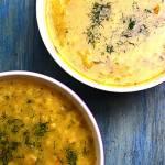 Kremowa zupa ogórkowa z kaszą