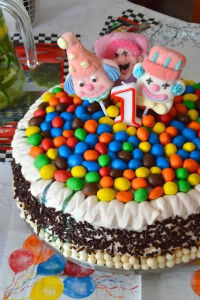 Wiśniowy tort na 1 urodziny mojego syna