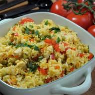 Risotto z kurczakiem curry