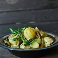 Ziemniaki z rukolą i fasolką szparagową