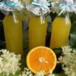 Syrop z kwiatów czarnego bzu i pomarańczy