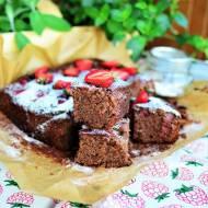 Ciasto gryczane z truskawkami (bezglutenowe)