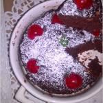 Czekoladowo-jabłkowe ciasto 3 minutowe. Mini ciasto.
